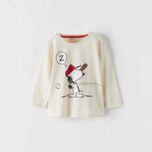 NWT 6-9 month Zara Snoopy Peanuts shirt